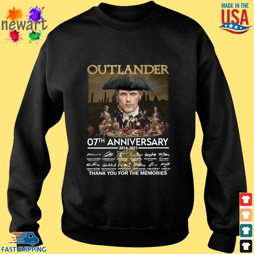 Outlander 07th anniversary 2014-2021 thank you for the memories signatures Sweater den