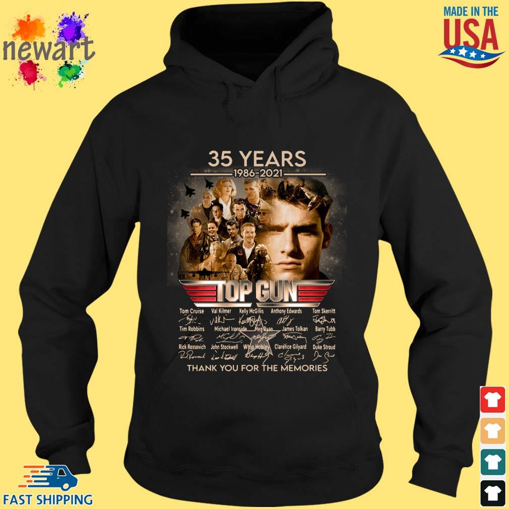 35 Years 1986 2021 Top Gun Thank You For The Memories Signatures Shirt hoodie den