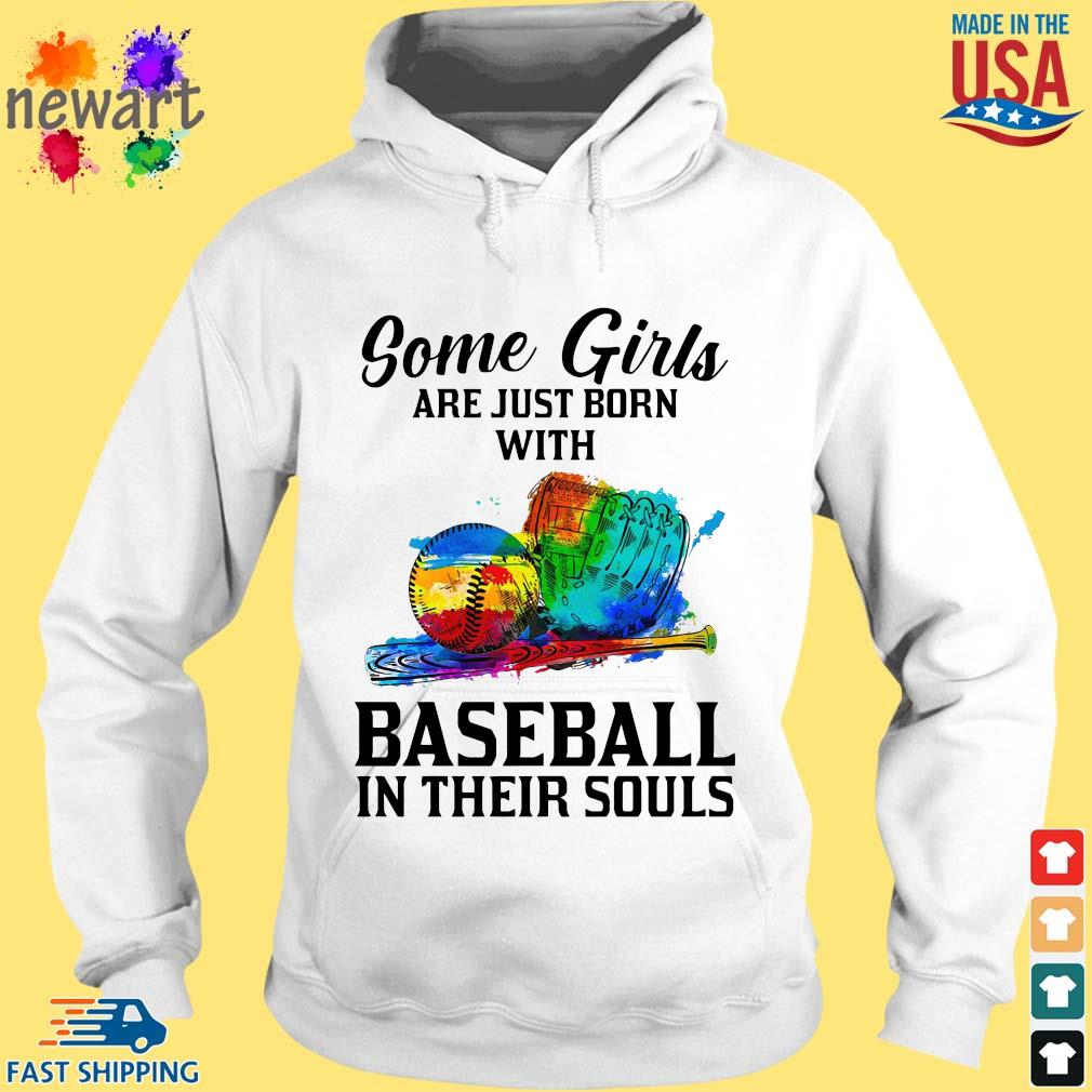 Some Girl Are Just Born With Basketball In Their Souls Shirt hoodie trang