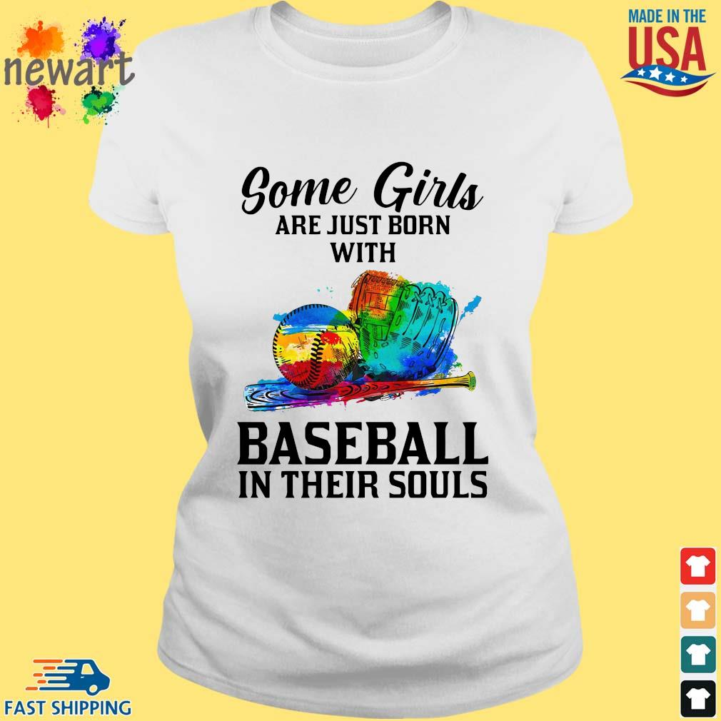 Some Girl Are Just Born With Basketball In Their Souls Shirt ladies trang
