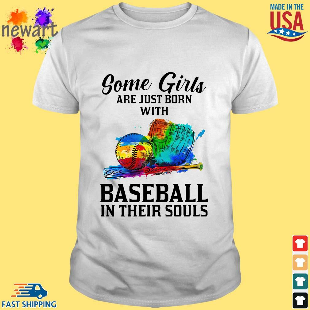 Some Girl Are Just Born With Basketball In Their Souls Shirt