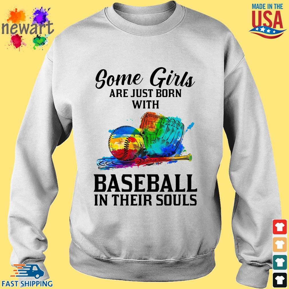 Some Girl Are Just Born With Basketball In Their Souls Shirt Sweater trang