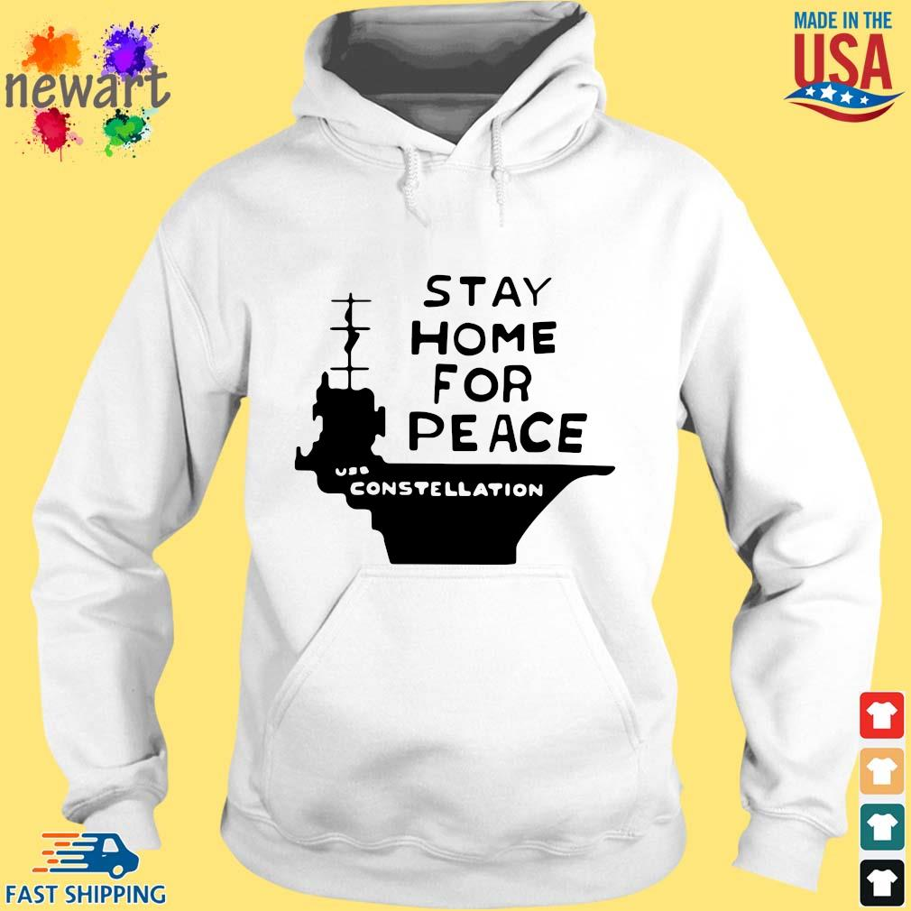 Stay home for peace joan baez hoodie trang