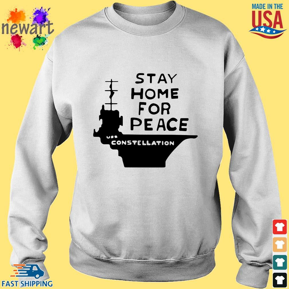 Stay home for peace joan baez Sweater trang