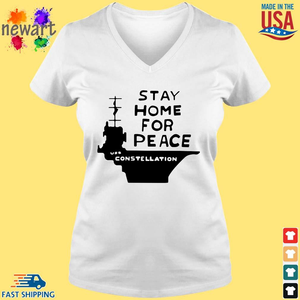 Stay home for peace joan baez vneck trang