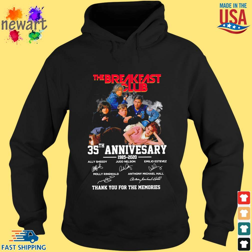 The Breakfast Club 35th anniversary 885-2020 thank you for the memories signatures hoodie den