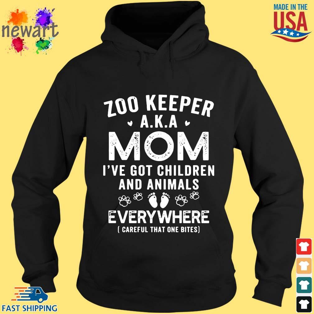 Zoo keeper aka mom I've got children and animals everywhere hoodie den