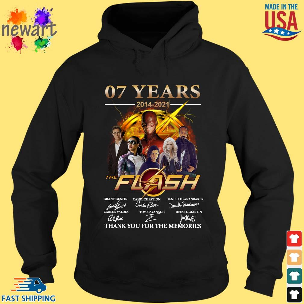 07 years 2014-2021 The Flash thank you for the memories signatures hoodie den