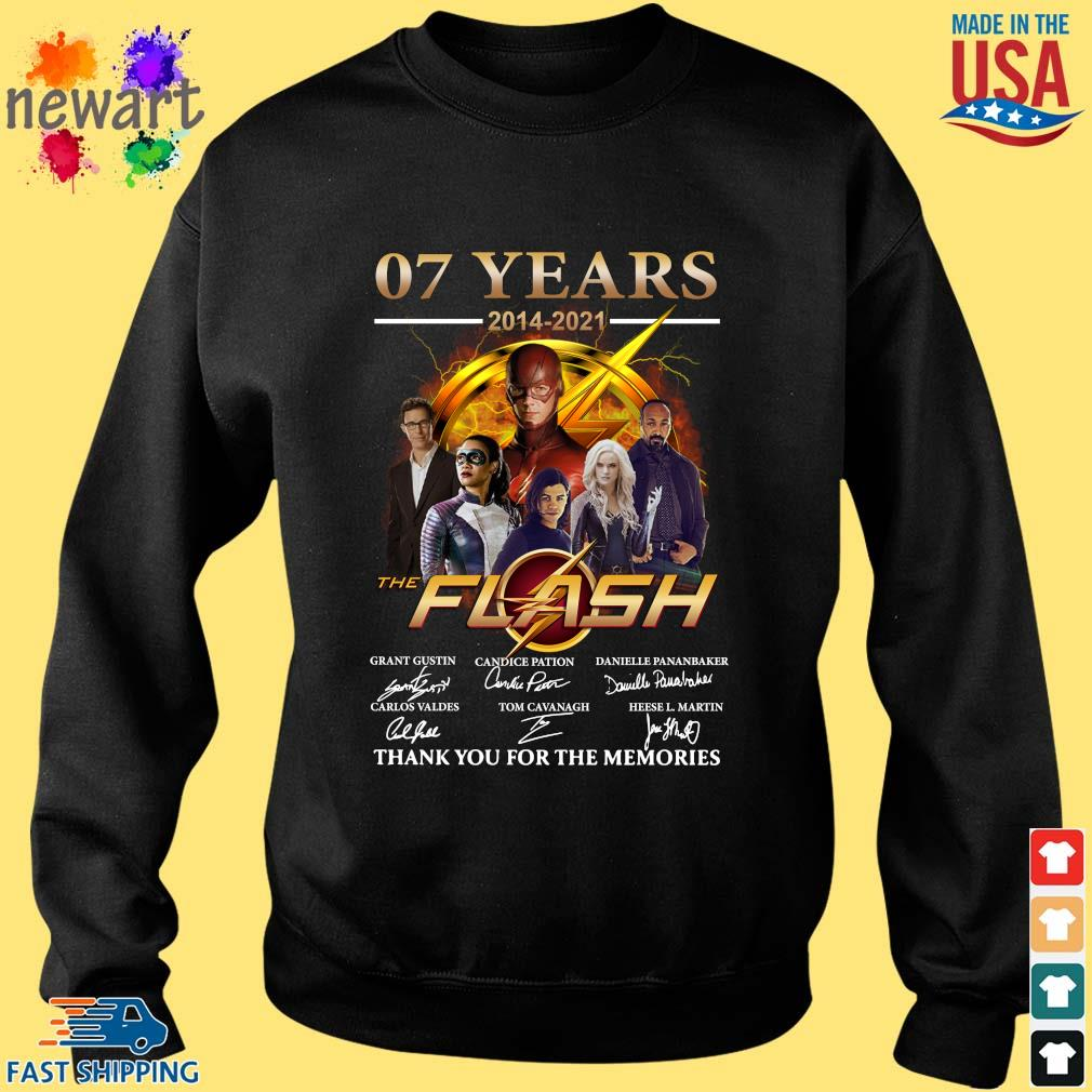 07 years 2014-2021 The Flash thank you for the memories signatures Sweater den