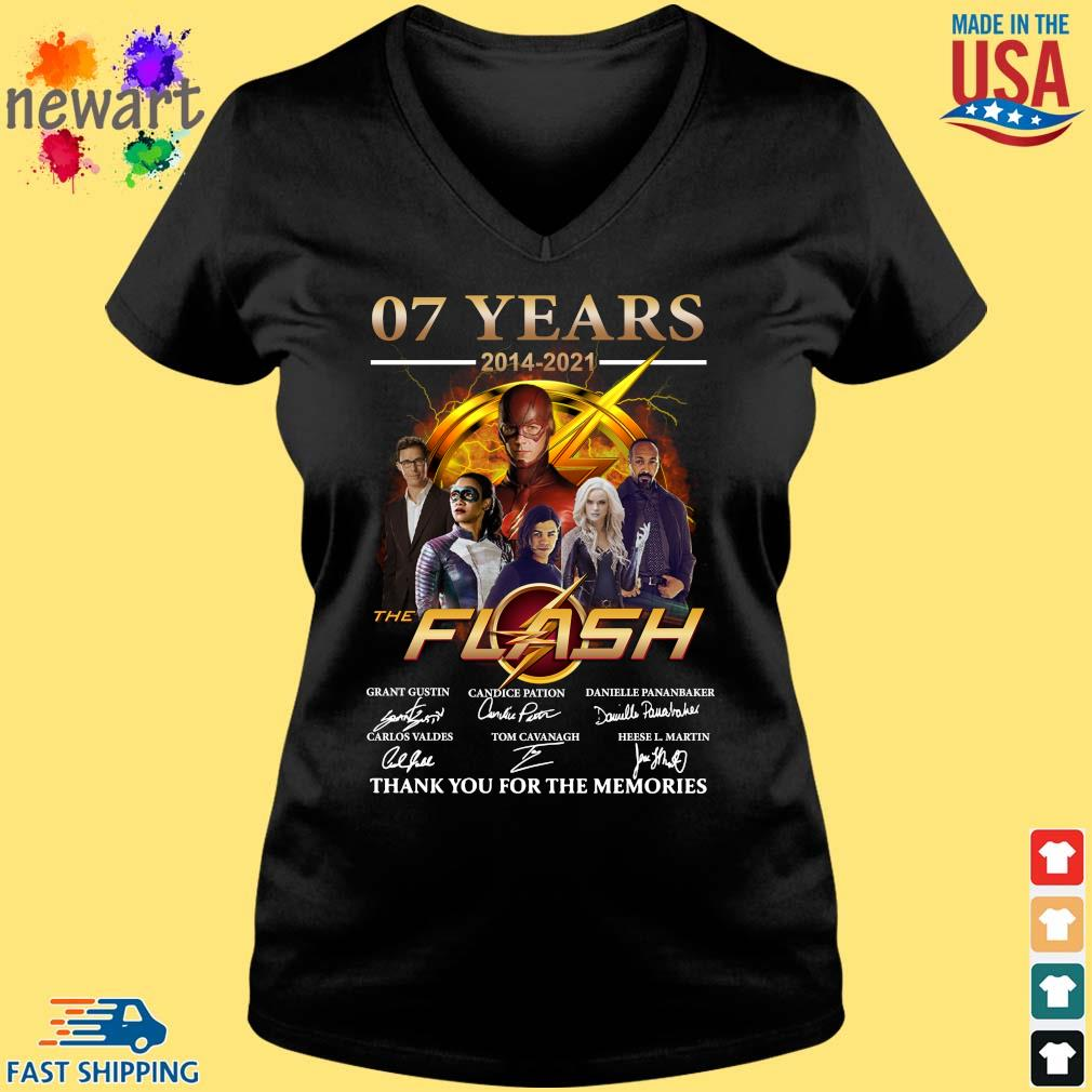 07 years 2014-2021 The Flash thank you for the memories signatures Vneck den
