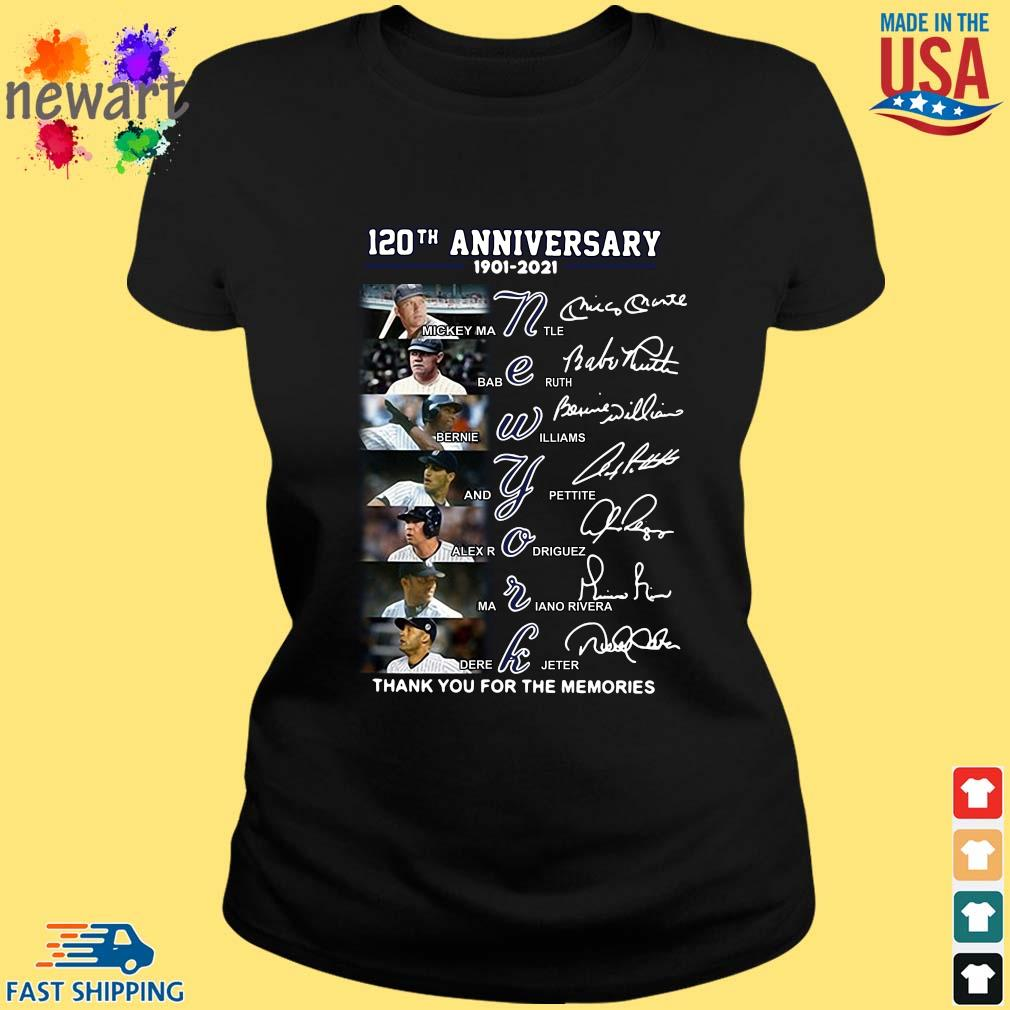 120th anniversary 1902-2021 New York thank you for the memories signatures ladies den