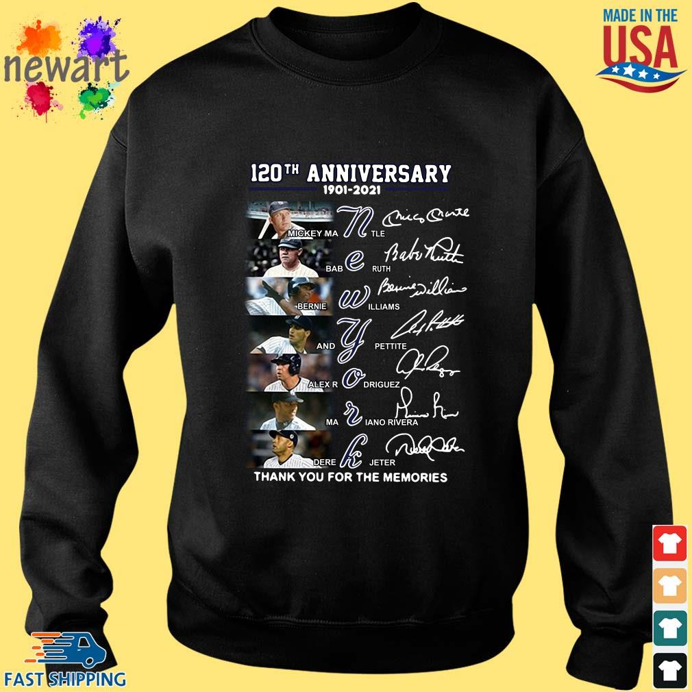 120th anniversary 1902-2021 New York thank you for the memories signatures Sweater den