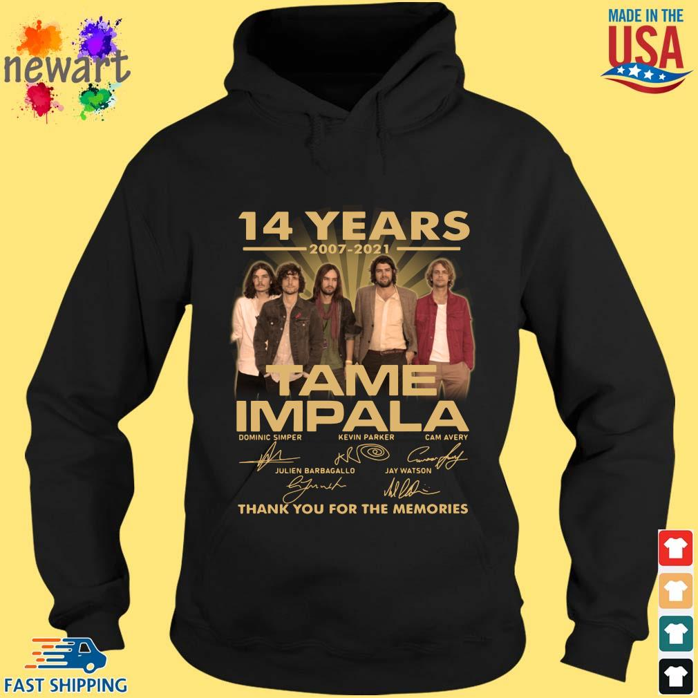 14 years 2007-2021 Tame Impala thank you for the memories signatures hoodie den