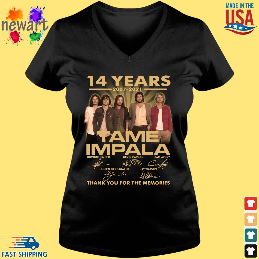 14 years 2007-2021 Tame Impala thank you for the memories signatures Vneck den