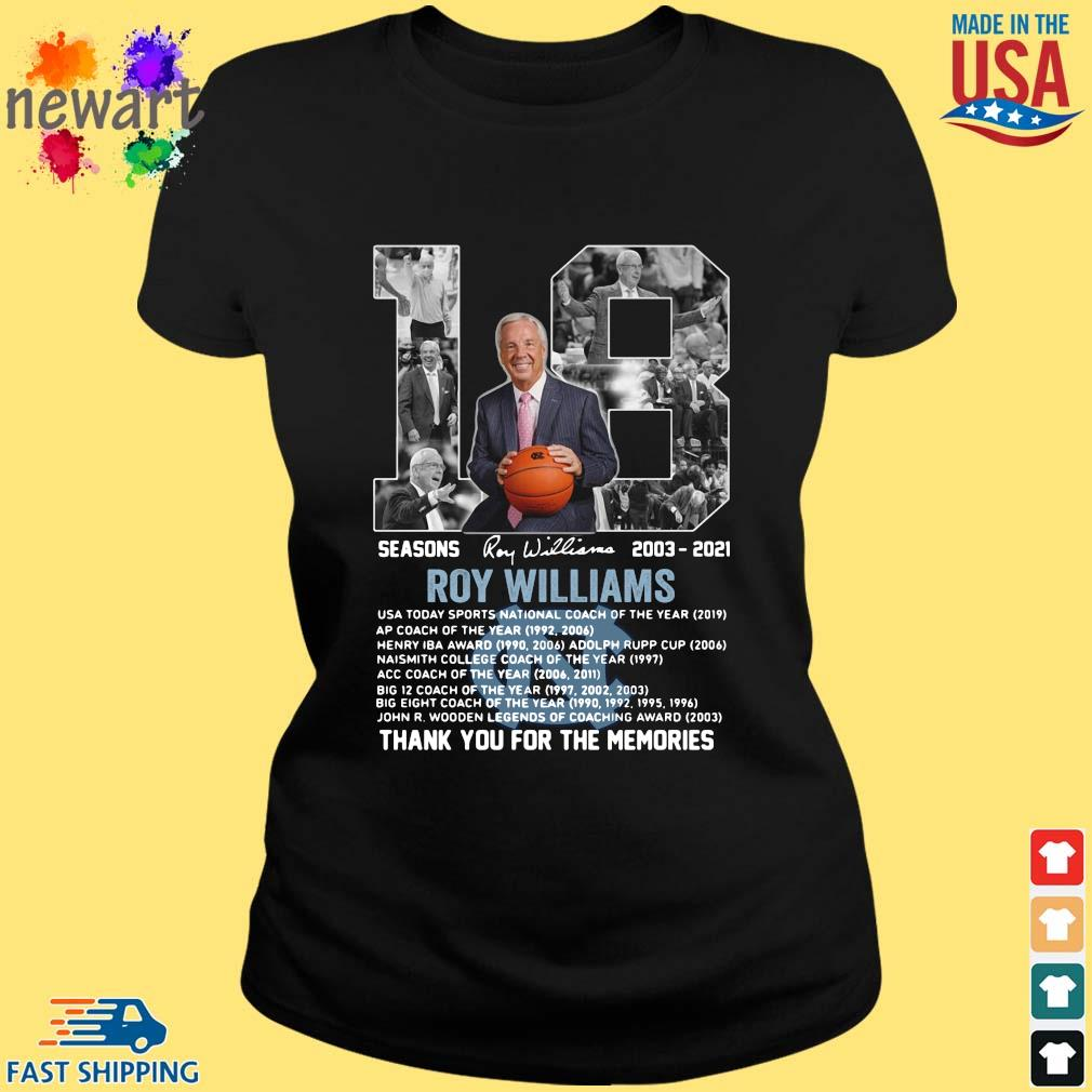 18 seasons 2003-2021 Roy Williams thank you for the memories signature ladies den