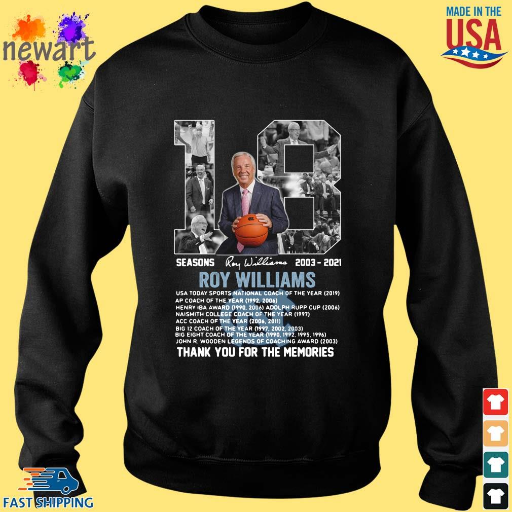 18 seasons 2003-2021 Roy Williams thank you for the memories signature Sweater den