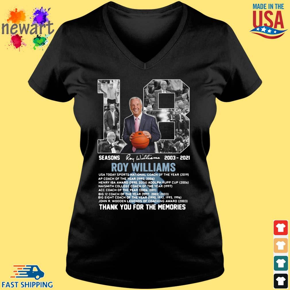 18 seasons 2003-2021 Roy Williams thank you for the memories signature Vneck den