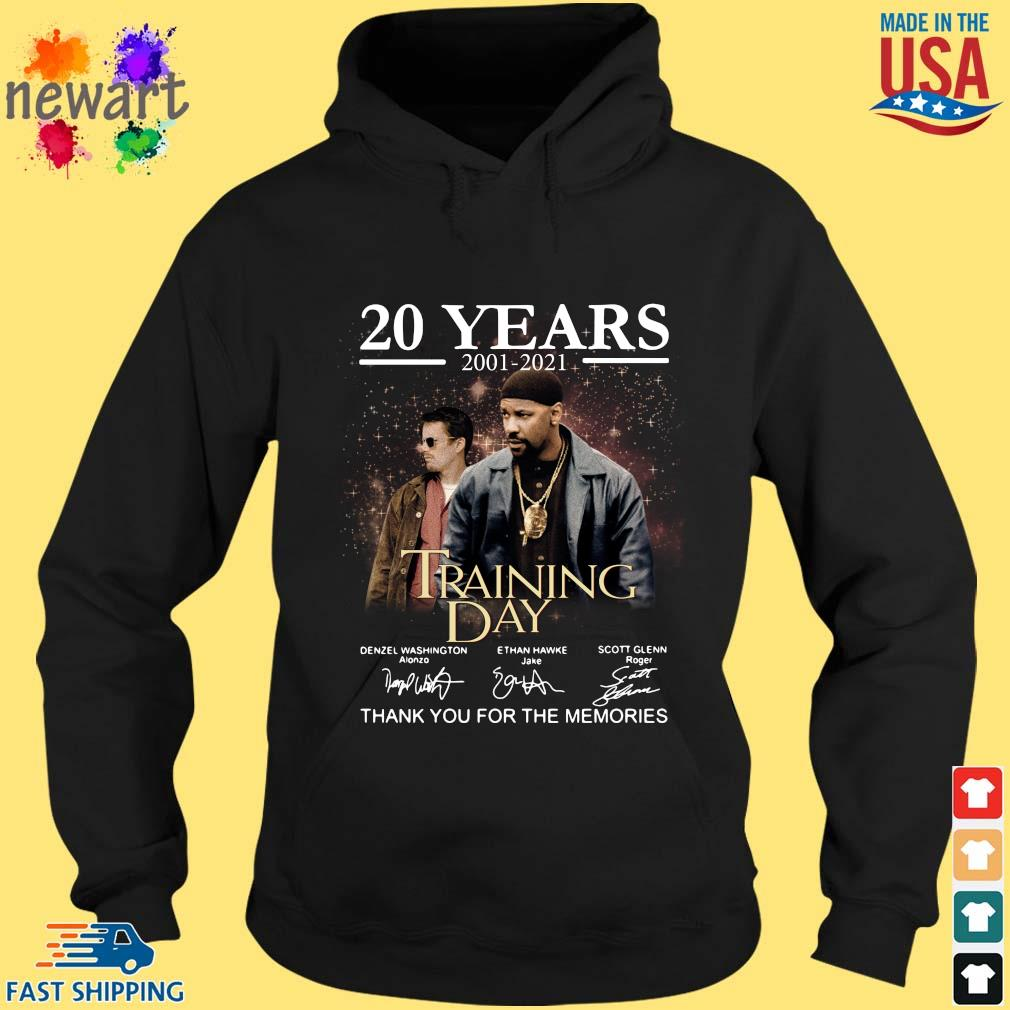 20 years 2001-2021 Training Day thank you for the memories signatures hoodie den