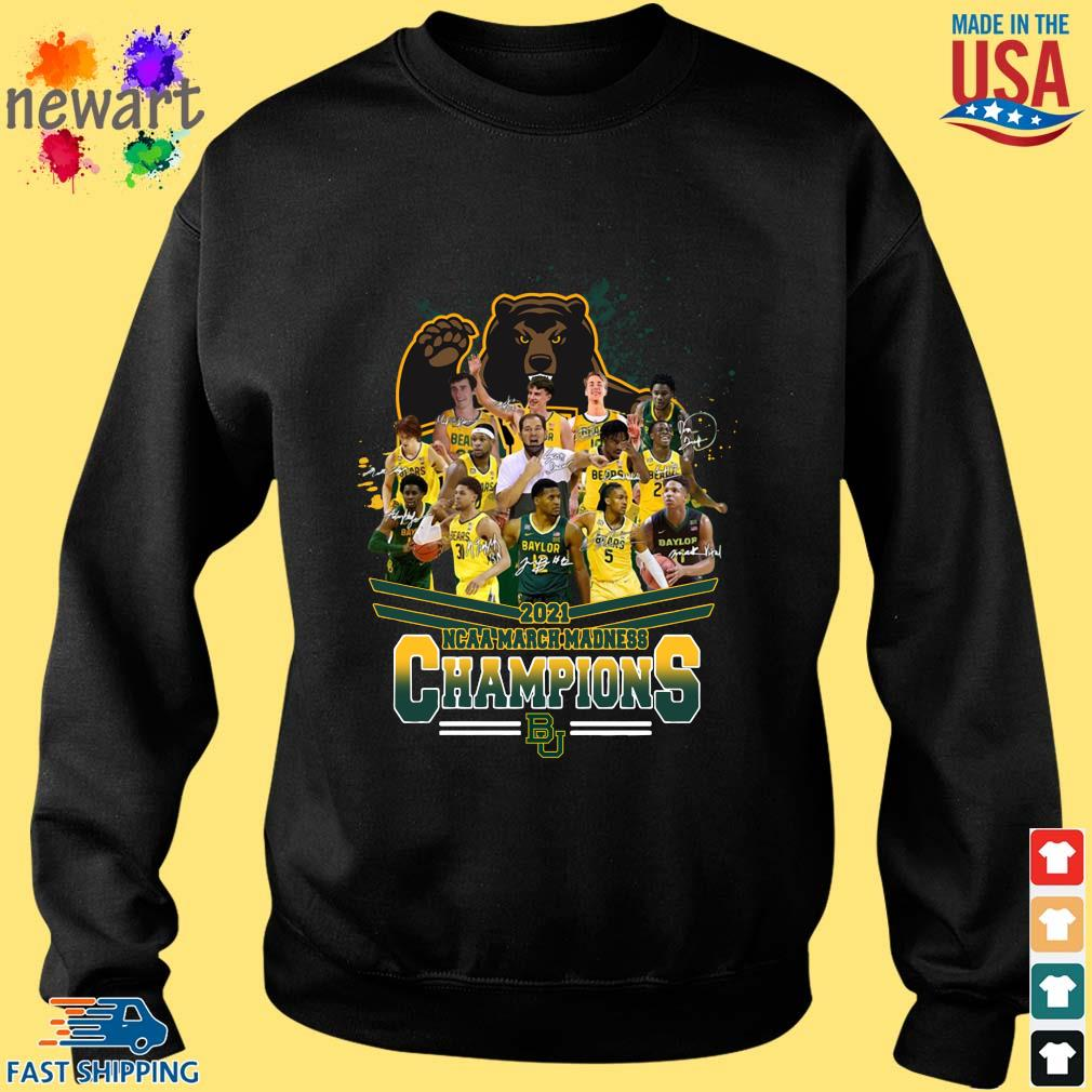2021 NCAA March Madness Champions Baylor University Signatures Sweater den
