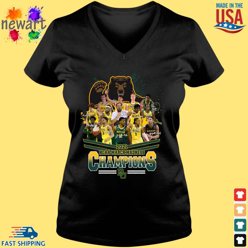 2021 NCAA March Madness Champions Baylor University Signatures Vneck den