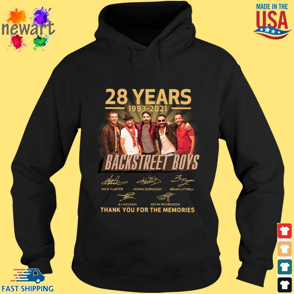 28 years 1993-2021 Backstreet Boys thank you for the memories signatures hoodie den