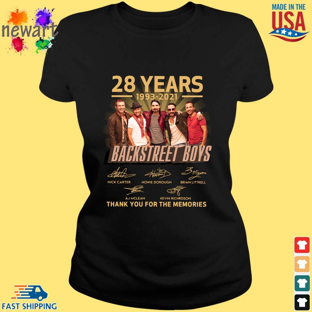 28 years 1993-2021 Backstreet Boys thank you for the memories signatures ladies den