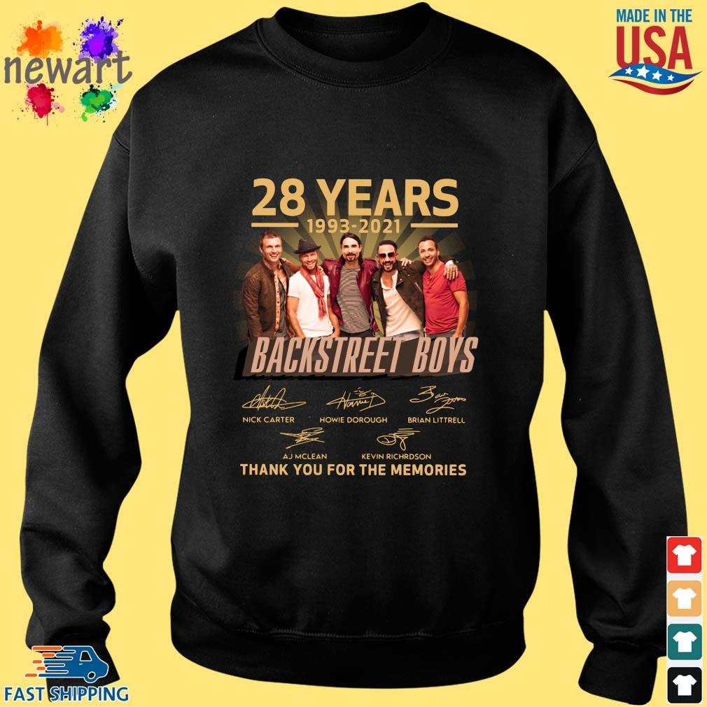 28 years 1993-2021 Backstreet Boys thank you for the memories signatures Sweater den