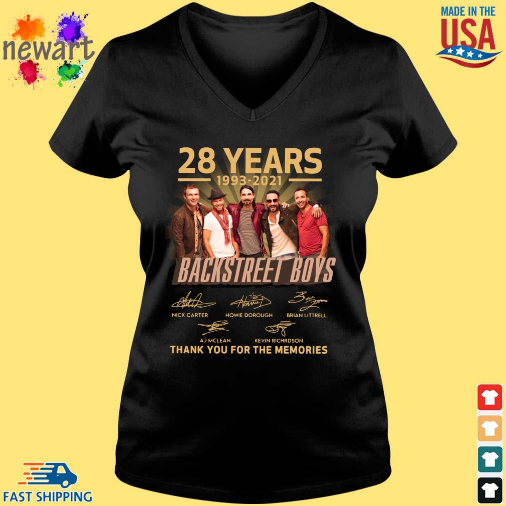 28 years 1993-2021 Backstreet Boys thank you for the memories signatures Vneck den