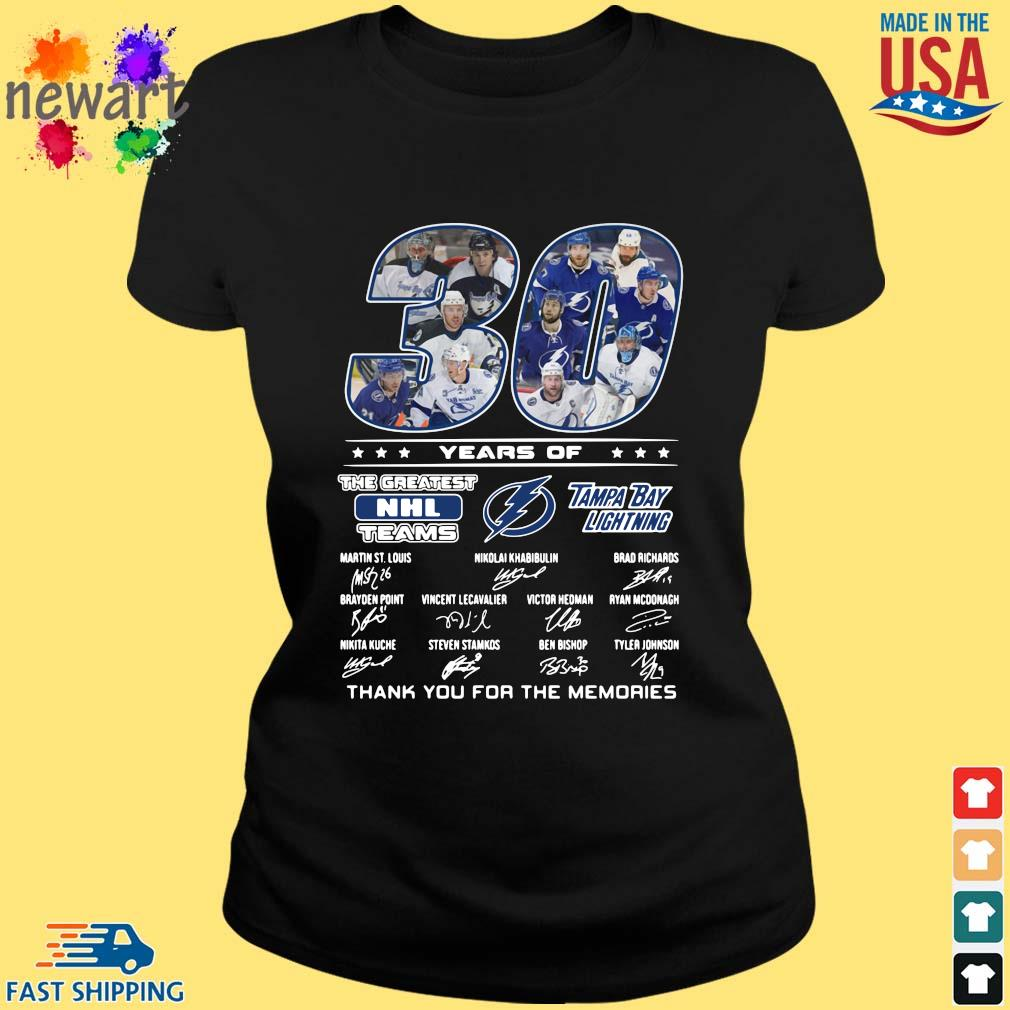30 years of Tampa Bay Lightning the greatest NHL teams thank you for the memories signatures ladies den