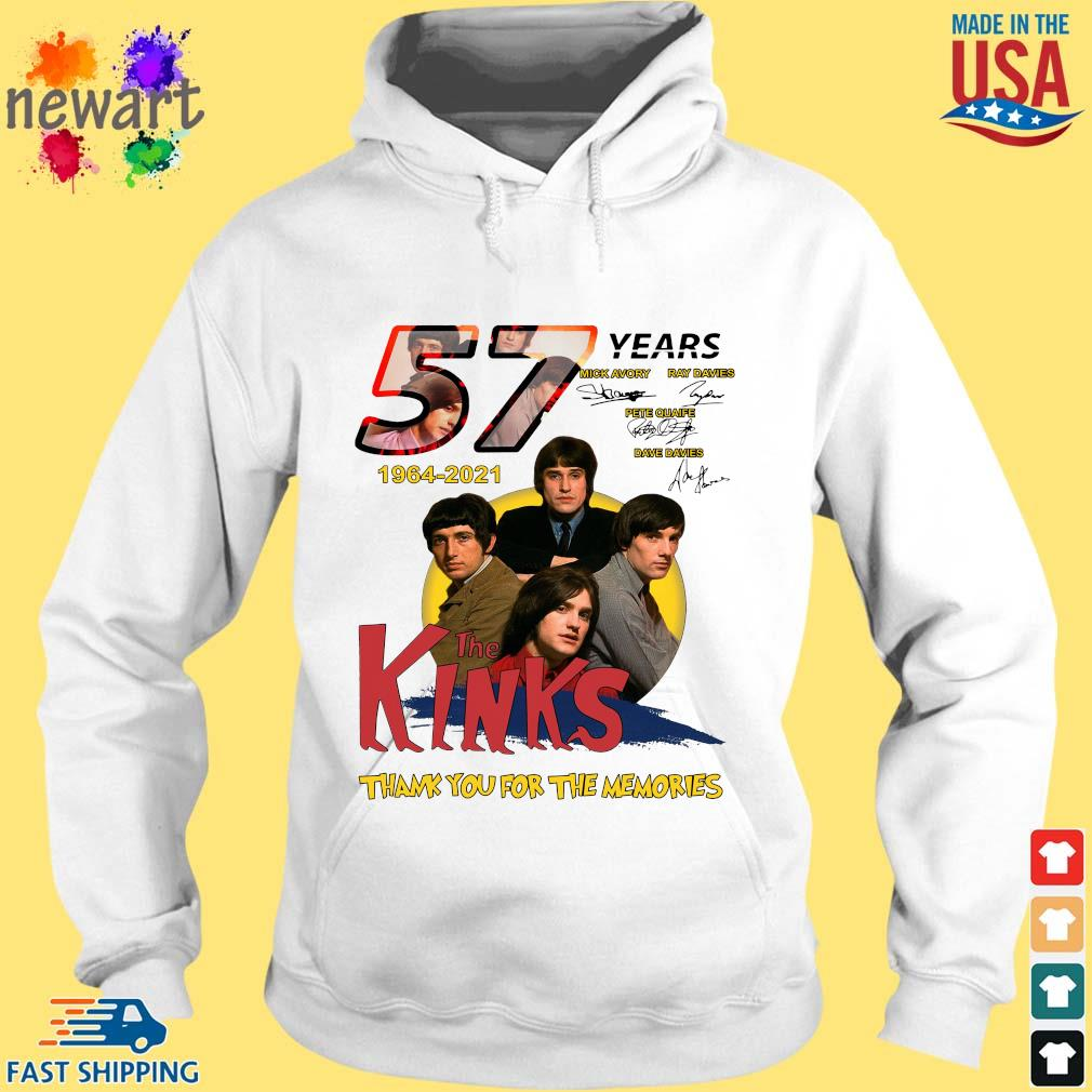 57 Years 1964 2021 The Kinks Signatures Thank You For The Memories Shirt hoodie trang