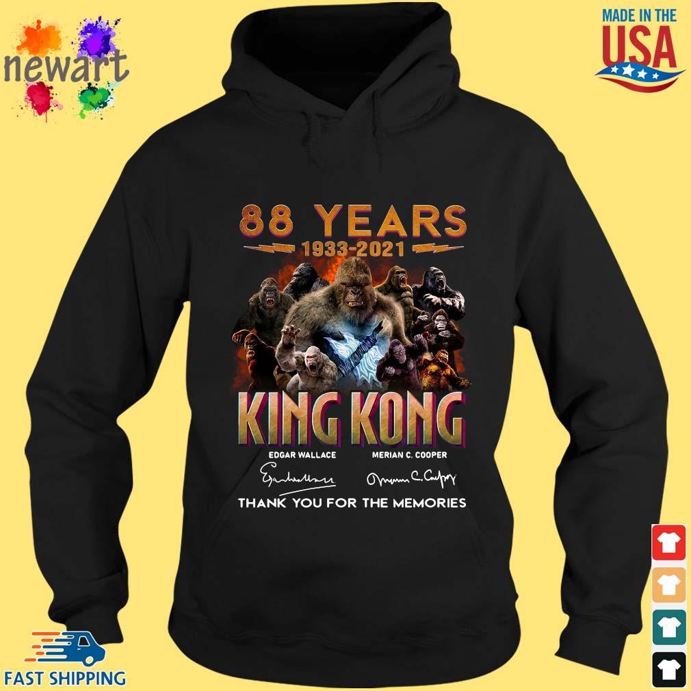 88 Years 1933 2021 King Kong Signatures Thank You Shirt hoodie den