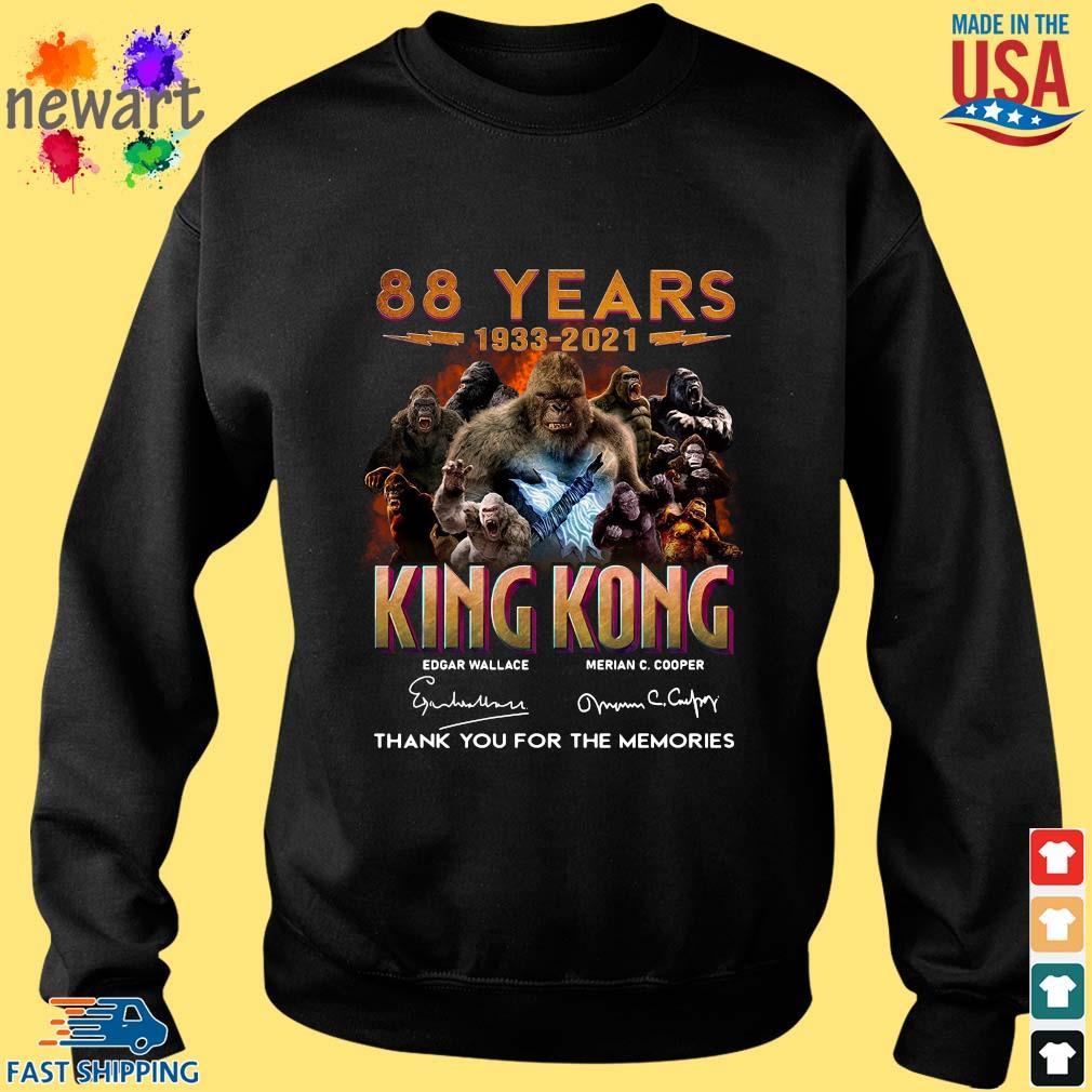 88 Years 1933 2021 King Kong Signatures Thank You Shirt Sweater den