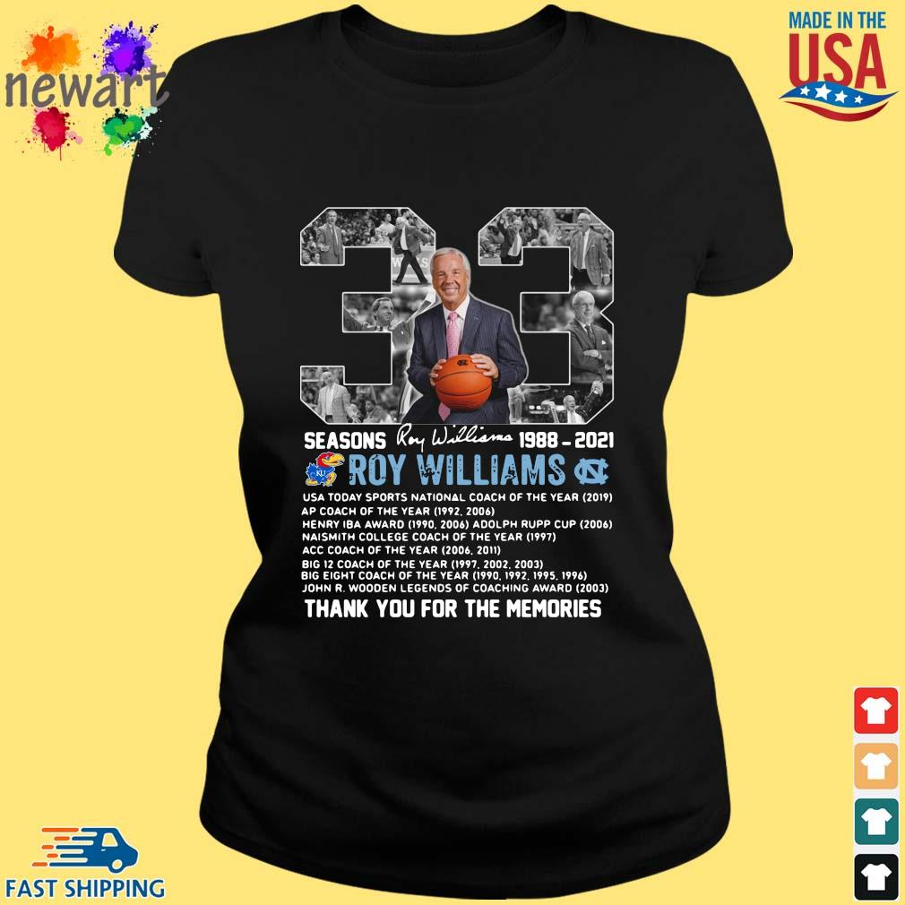 33 seasons 1988-2021 Roy Williams thank you for the memories signature ladies den