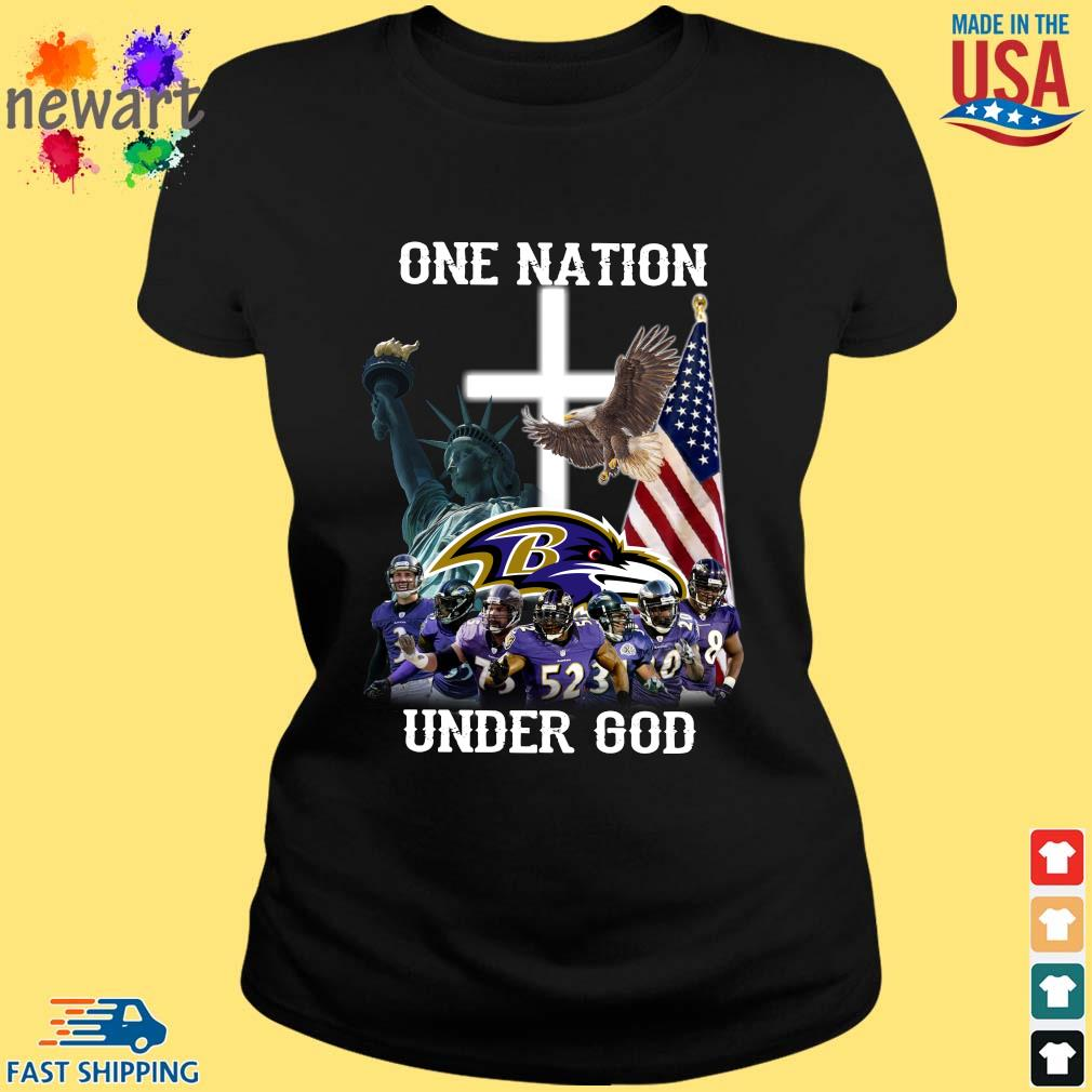 Baltimore Ravens One Nation Under God Shirt ladies den