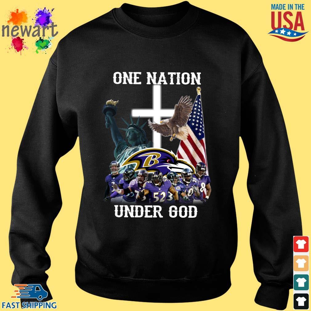 Baltimore Ravens One Nation Under God Shirt Sweater den