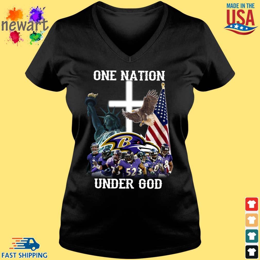 Baltimore Ravens One Nation Under God Shirt Vneck den