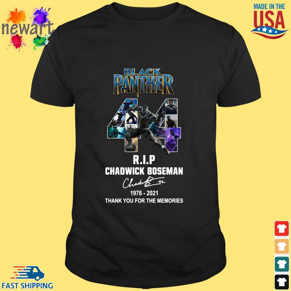 Black Panther 44 Years 1976-2021 RIP Chadwick Boseman thank you for the memories signature shirt