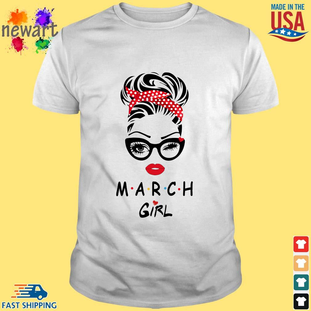 Black Woman With Glasses March Girl Shirt