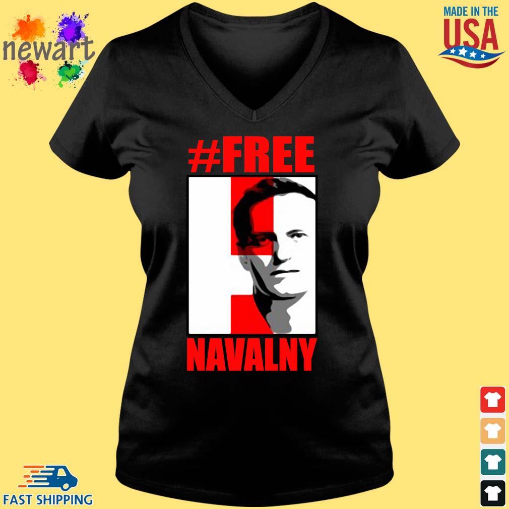 #Free Navalny Shirt Vneck den