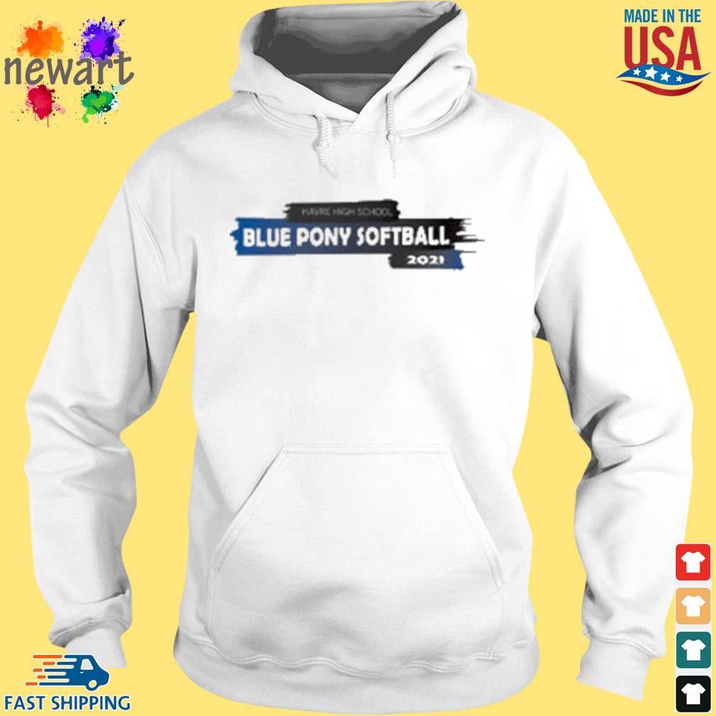 Harve High School Blue Pony Softball 2021 Shirt hoodie trang
