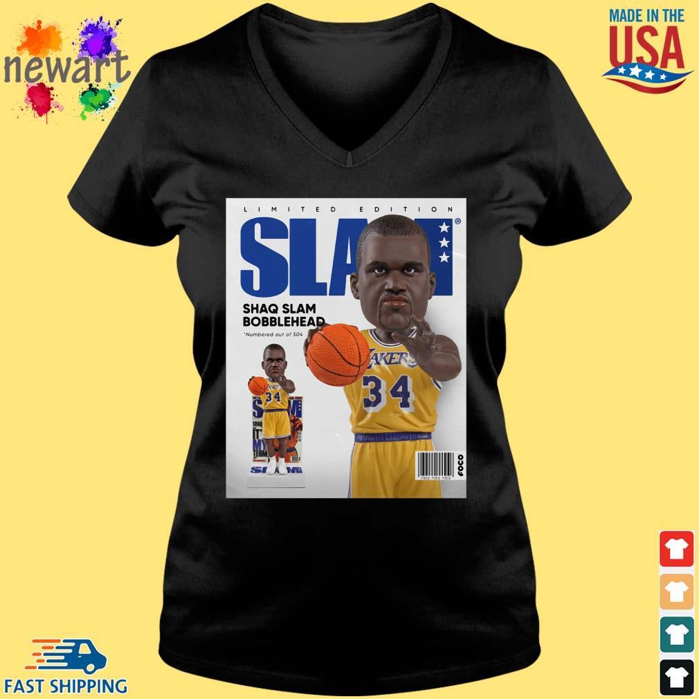Limited Edition Slam Shaq Slam Bobblehead Shirt Vneck den