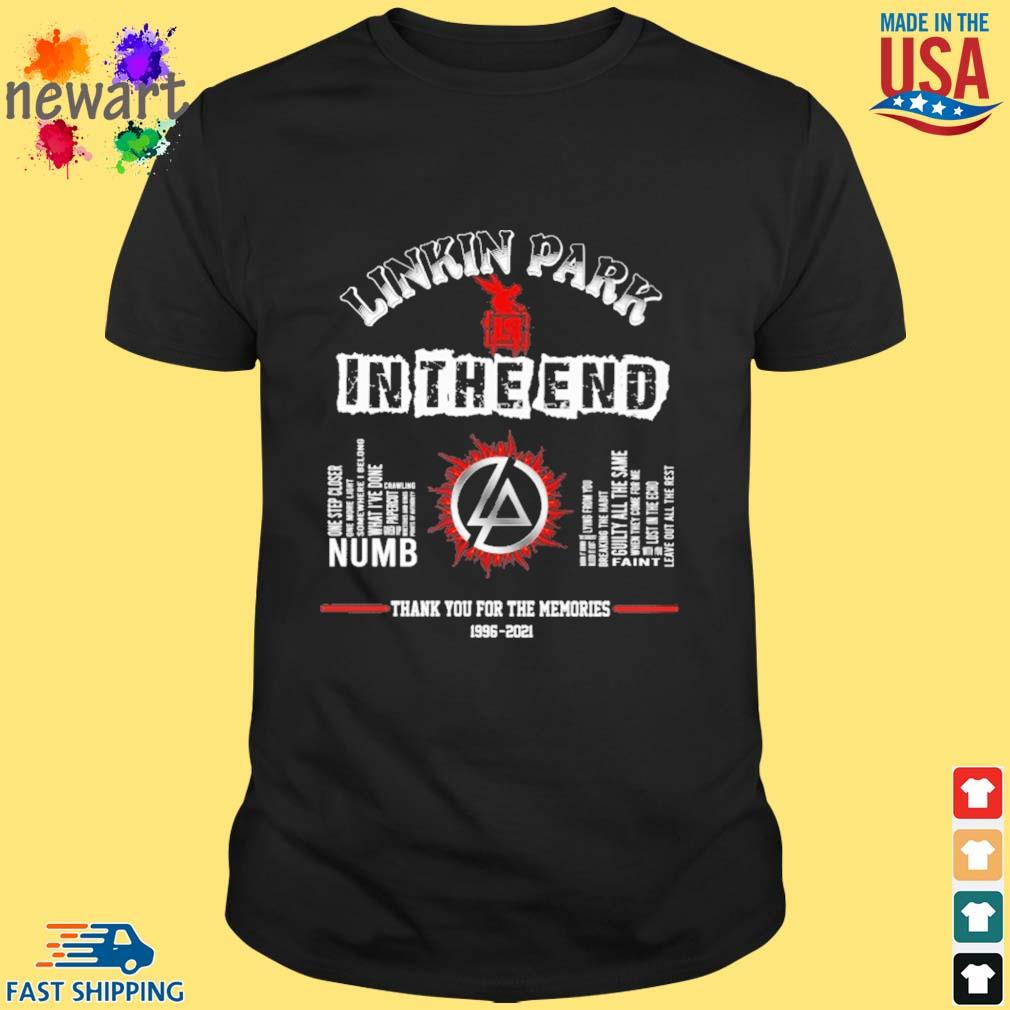 Linkin park in the end thank you for the memories 1996-2021 shirt