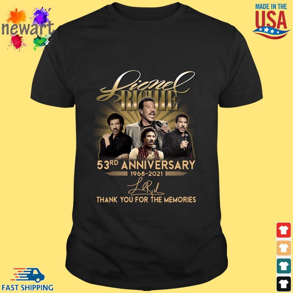 Lionel Richie 53rd Anniversary 1968 2021 Signatures Thank You Shirt