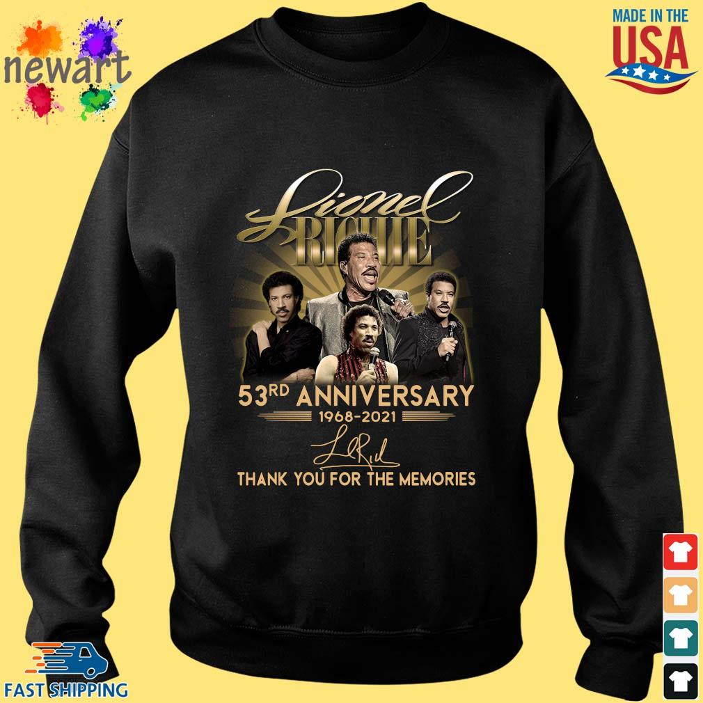 Lionel Richie 53rd Anniversary 1968 2021 Signatures Thank You Shirt Sweater den