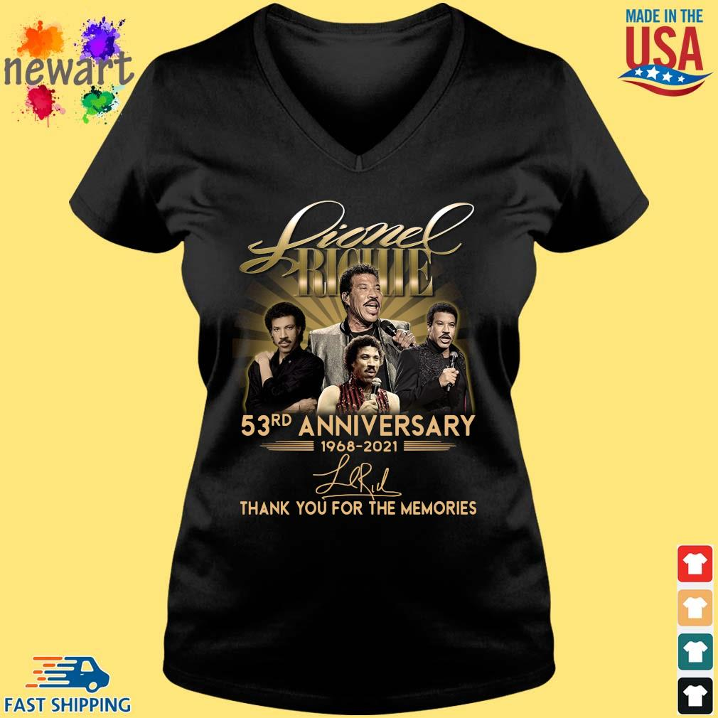 Lionel Richie 53rd Anniversary 1968 2021 Signatures Thank You Shirt Vneck den