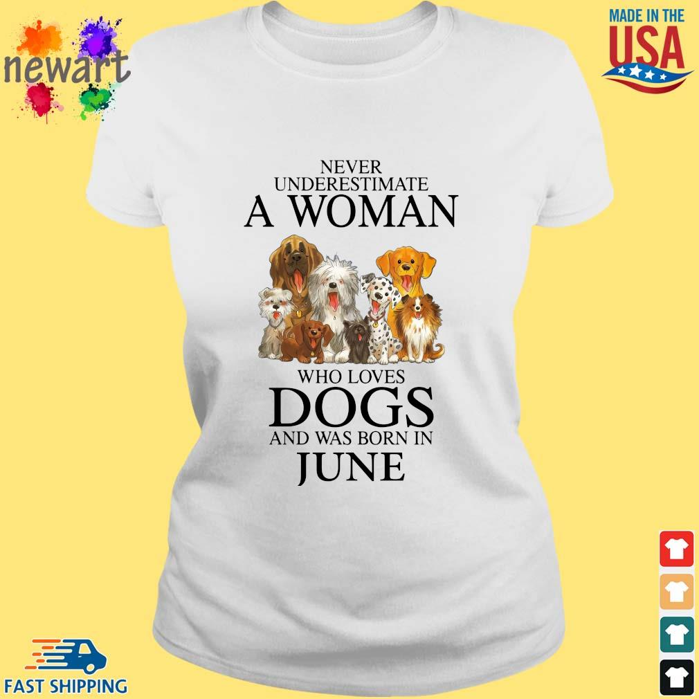 Never underestimate an old man who loves dogs and was born in june ladies trang
