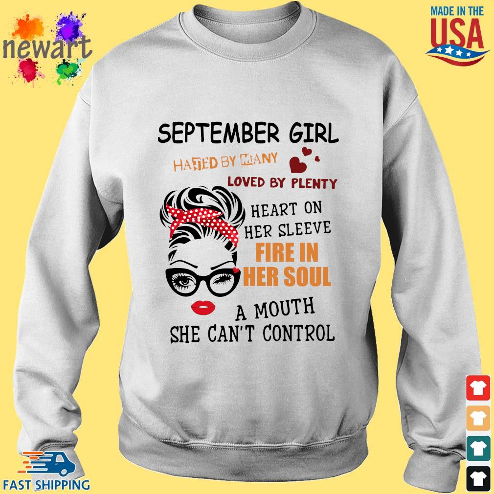 September girl hated by many loved by plenty heart on her sleeve fire in her soul a mou Sweater trang