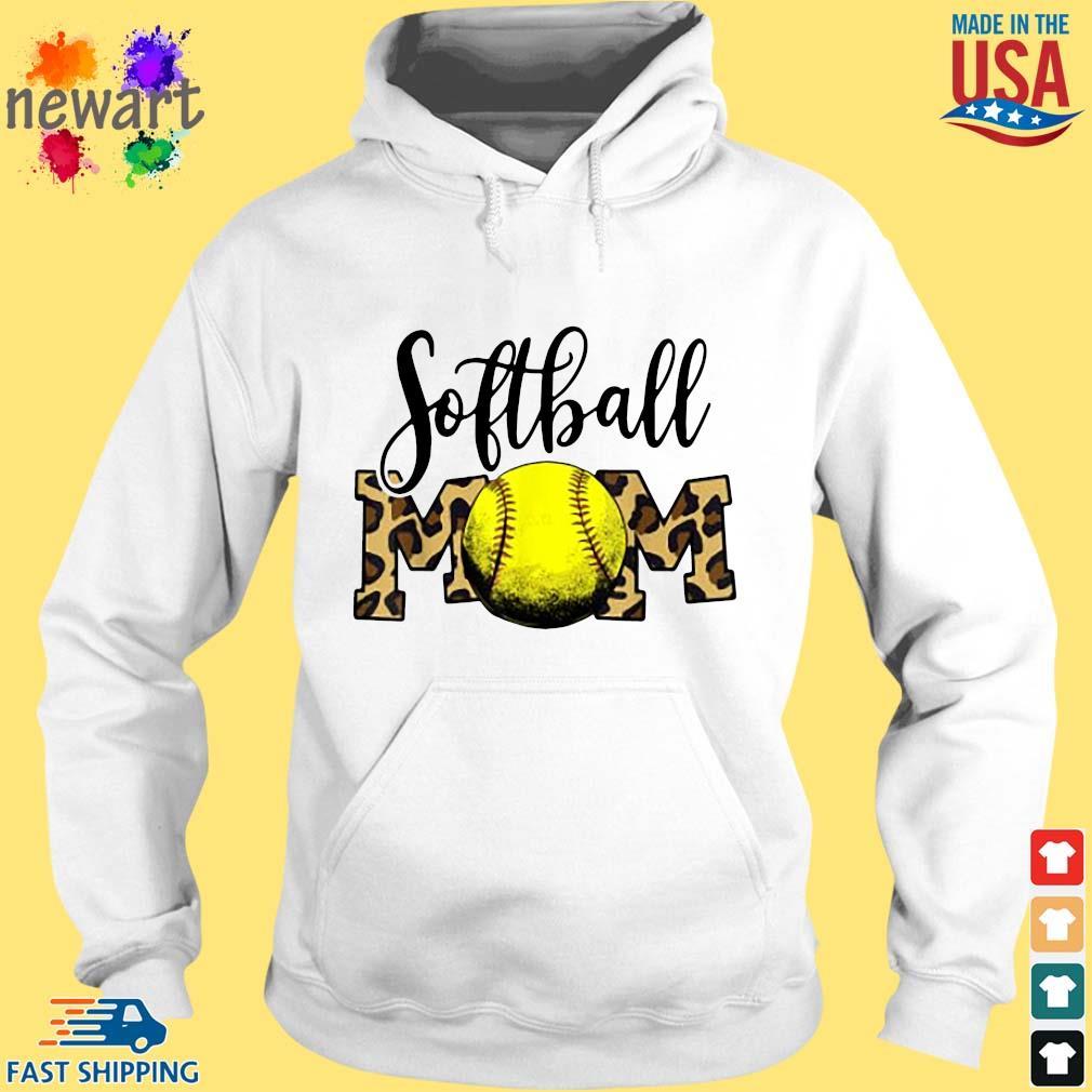 Softball Mom Shirt hoodie trang