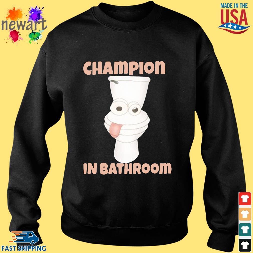 Toilet Champion in bathroom Sweater den