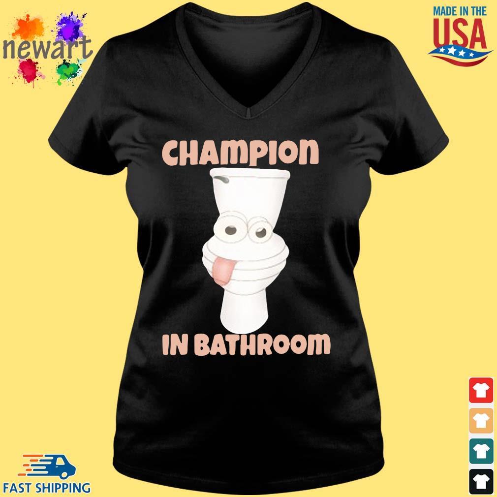 Toilet Champion in bathroom Vneck den